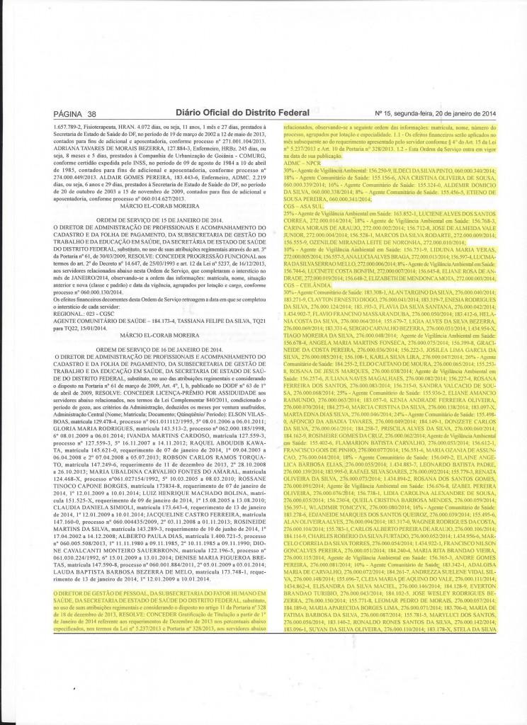 1ª publicação referente gratificação de titulação