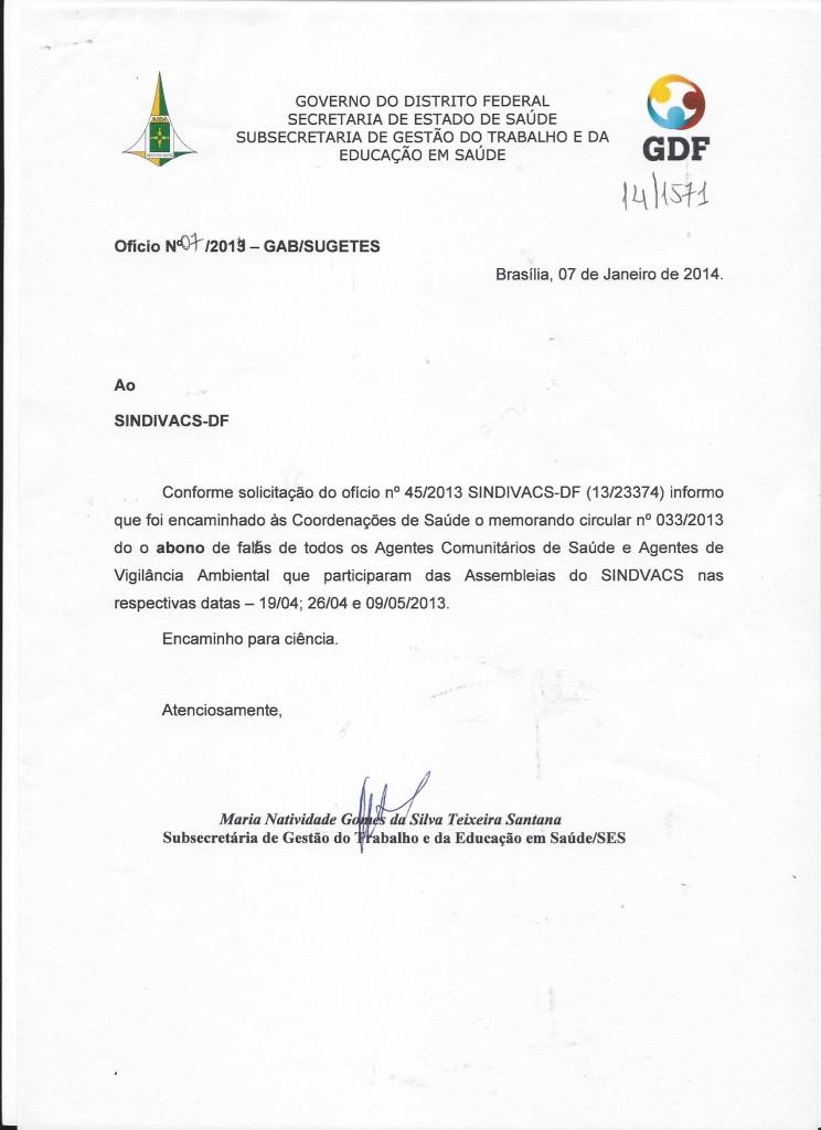 oficio n°07.2014 gab.sugetes