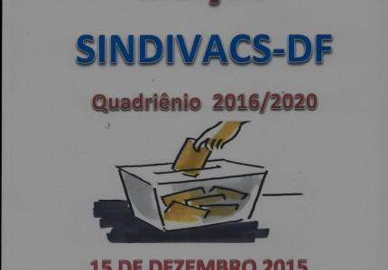 Eleição SINDIVACS.DF Quadriênio 2016-2020